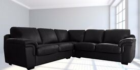 "LUXURY LEATHER CORNER SOFA BRAND NEW CHOCOLATE BROWN FAST DELIVERY ""LAST FEW SETS"""