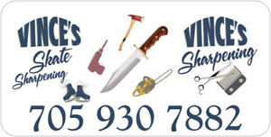 Sharpening, skates, clipper blades, scissors knives and more.