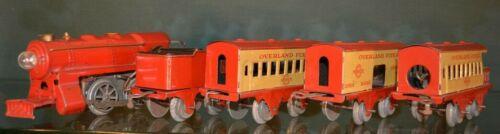 Vintage Hafner Overland Flyer O Gauge Windup Clockwork Train Set 1934 Chicago