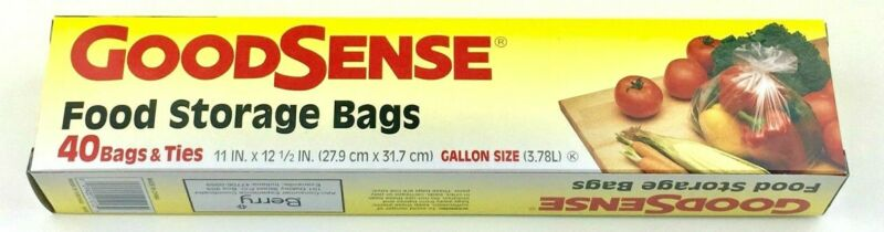 GoodSence Food Storage Bags 40 Bags Tiles Gallon Size (Pack of One)