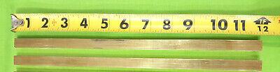 14 X 12 C360 Brass Solid Flat Bar 12 Long 2 Pieces New Brass Stock H02