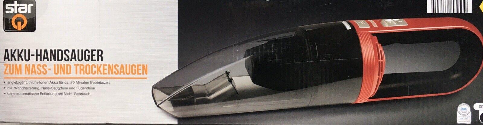Akku Handstaubsauger Nass und Trockensauger Lithium Ionen 7,4 V Handsauger  NEU