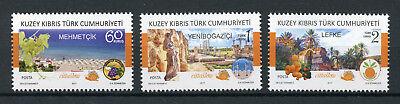 Turkish Northern Cyprus 2017 MNH Cittaslow Member Towns 3v Set Fruits Stamps