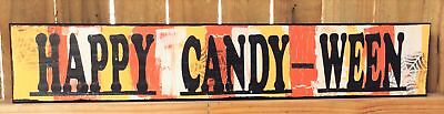 AG Designs Halloween Decor - Long Mantle Sign Happy Candy-Ween #82414