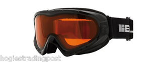 BLOC UNISEX BLACK SKI GOGGLES - MODEL XT6000 DAF - GOLDEN EYE - ANTI - FOG