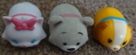 3 Genuine tsum tsum Disney fuzzy Tramp, lady from Lady and the Tramp marie Stack Vinyl £2 the set