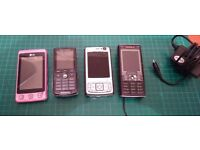 4 old Mobile Phones