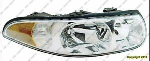 Head Light Passenger Side Custom Model With Fluted High Beam Surface With Marker High Quality Buick LeSabre 2000-2005