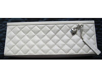 Frank Usher clutch bag in cream, used once.