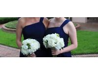 Two Size 10 Dark Blue Bridesmaid Dresses
