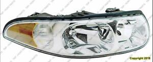Head Lamp Passenger Side Ltd Model With Fluted High Beam Surface With Marker High Quality Buick LeSabre 2000-2005