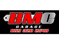 BMC Garage in Ward End, B8 2TY*** MOT TESTER *** required...other jobs available (tyres, mechanic)