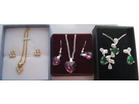 Necklace and bracelet sets, or Necklace and earrings sets, mostly NEW. £2 - £4 per set