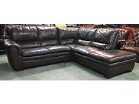 £1800 DFS Brown leather Corner sofa WE DELIVER UK WIDE