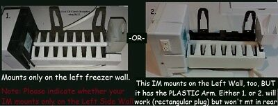 WR30X10012 GE, Hotpoint Icemaker has rectangular plug. $18.99 + s/h. ice maker
