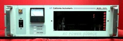 California Instruments 2001l-1p-hv Ac Power Supply 2000 Va 1 Phase Out L05720