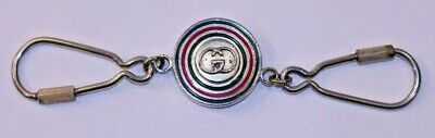 VTG Gucci Keychain Key Ring Double GG AUTH Made Italy Sherry Line 88 Spinning