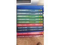 Haynes Manuals (10) £5 the lot.