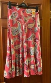 Marks and Spencer Pink Skirt Size 10 Brand New with Tags