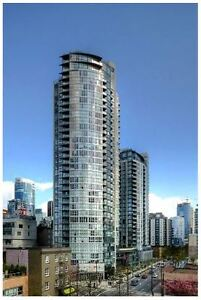 1Br + Den with Large Patio in Yaletown