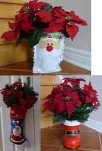 Variety of Artificial Poinsettias - 3 Available
