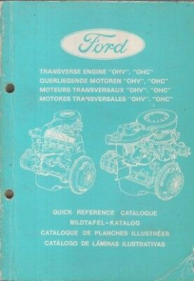 FORD 1.0 OHV 1.1 1.3 1.6 CVH ENGINE ORIGINAL FACTORY PICTORIAL PARTS CATALOGUE