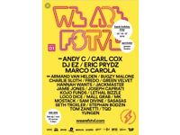 we are FSTVL 2 day weekend tickets x2