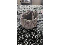 Brand new- Grey Dunelm Knitted storage basket