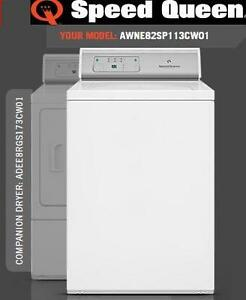 Speed Queen AWNE82SP113CW01 Commercial Topload Washer and ADEE8RGS173CW01 Commercial Electric Dryer Electronic Controls