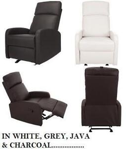 *no tax* Kidiway Santa Maria Bonded Leather Glider / Recliner