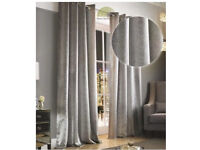 NEW Kylie Minogue Adelphi Mist Lined Eyelet Curtains 90x90