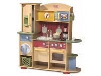 SOLD Little Tikes wooden play kitchen