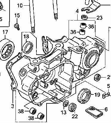 Partslist together with Honda Cr80r Engine Diagram in addition Swingarm 87 88 Schematic Honda Cr125r 1988 Usa as well Honda Xl100s 1984 Usa Rear Brake Panel as well Cr125 Engine Diagram. on cr125 engine diagram