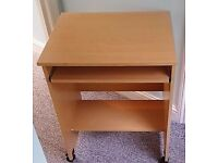 Beech effect PC trolley. Assembled and good as new.