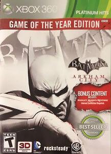 Batman Arkham City -- Game Of The Year Edition Platinum Hits Microsoft Xbox - $1.00