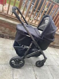 Vista uppababy carrycot and stroller