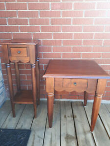 Two beautiful mahogany end tables