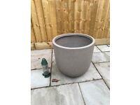 Large Plant Pot (Resin) Grey Garden Planter