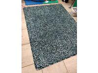 IKEA high pile rug blue/green