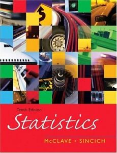 Statistics by James T. McClave, Terry Sincich 10th ed