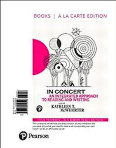 In concert: an integrated approach to reading and writing 3rd ed