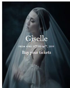 Ce vendredi (x2) - Grands Ballets Canadiens - Giselle - Parterre