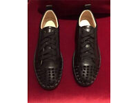 Leather studded Louboutin junior spikes