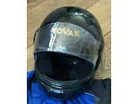 Black novak helmet size M