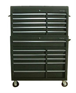 06 us pro tools black steel chest box snap up cabinet tool for Kitchen cabinets 0 financing