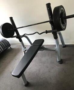matrix fitness olympic bench press  gym  fitness