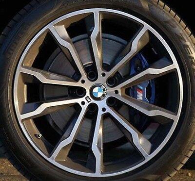 """BMW OEM G01 X3 G02 X4 G05 X5 Radial Double Spoke Style 699M 20"""" Orbit Grey New"""