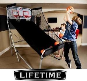 NEW LIFETIME DOUBLE SHOT ARCADE BASKETBALL Leisure Sports  Game Room  Arcade  Table Games  Electronic Basketball