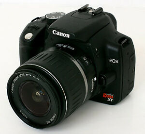 Canon DSLR Rebel XT with many accessories
