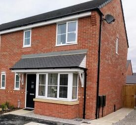 Newly built beautiful 3 bedroom semi-detached home house property Broughton Chester 3 parking spaces